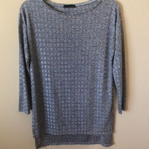 Zara  W & B Grey Tunic